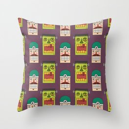 Chasing Viktor Frankenstein (Patterns Please) Throw Pillow