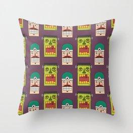 Chasing Viktor Frankenstein (Patterns Please) Throw Pillow