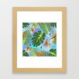 Tropical Leaves on Paradise Framed Art Print