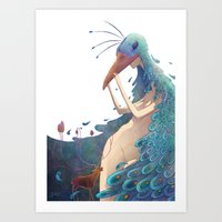 fairy Art Prints featuring Fairy by Amandine Riera ( Dïne )