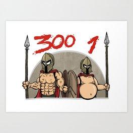 Fitness warriors Art Print