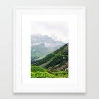 switzerland Framed Art Prints featuring Switzerland by Tana Helene