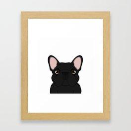 Frenchie - Black Brindle Framed Art Print