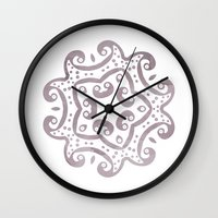 decorative Wall Clocks featuring Decorative by Meredith Washburn