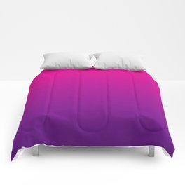 Neon Pink Purple Ultra Violet Pattern Comforters