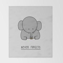 An Elephant Throw Blanket