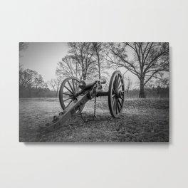 Spotsylvania Virginia Historic Artillery Black and White Fine Art Photography Civil War Metal Print