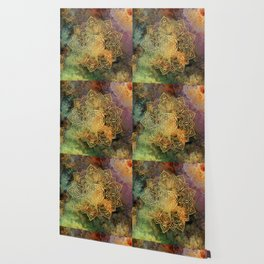 Flower Of Life Batik Wallpaper