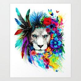 Hipster Lion Art Print