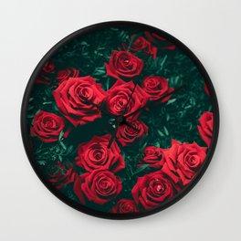 The Rose Bush (Color) Wall Clock