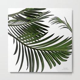 Large Tropical Palm Leaves Metal Print