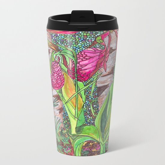 Lady Slippers Metal Travel Mug
