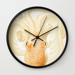 Peachy Keen Octopus Circa 1898 Wall Clock