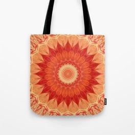 Mandala orange red Tote Bag