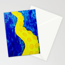 Yellow Tentacle Stationery Cards