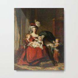 Marie Antoinette and her children by Elisabeth Vigee Le Brun, 1787 Metal Print