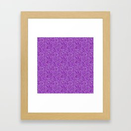 Purple Moondust Glitter Pattern Framed Art Print