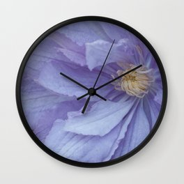 Mauve Clematis by Teresa Thompson Wall Clock