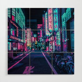 A Neon Wonderland called Tokyo Wood Wall Art