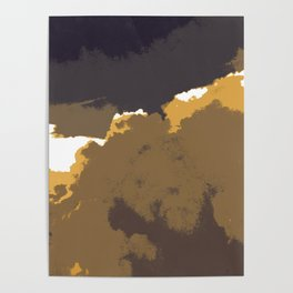 Golden Clouds Poster