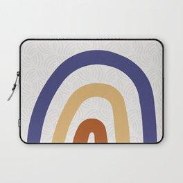 Rainbow Moon - Gold + Navy + Burnt Sienna Laptop Sleeve