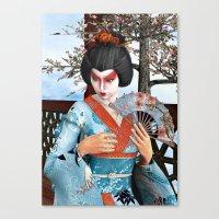 geisha Canvas Prints featuring Geisha by Design Windmill