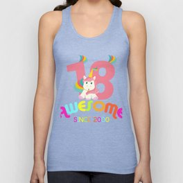 Awesome Since 2000 Unicorn 18th Birthdays Anniversaries Unisex Tank Top