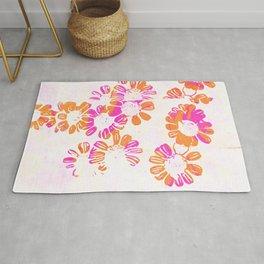 makenzie: floral tie dye, pink Rug