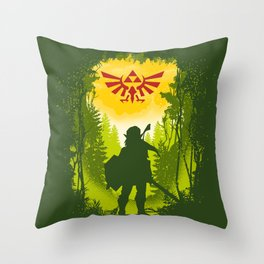 Let the Journey Begin Throw Pillow