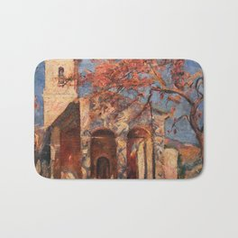 African American Masterpiece Chapel of Notre Dame, Cagnes-sur-Mer' by William Johnson Bath Mat