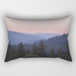 Sunset in the Santa Cruz Mountains Rectangular Pillow