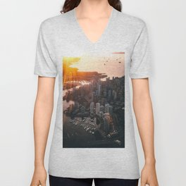 ARCHITECTURE - BIRD - S - EYE - VIEW - BUILDINGS - PHOTOGRAPHY Unisex V-Neck