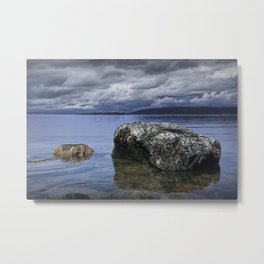 Rocks in the water on a Lake in Acadia National Park in Maine Metal Print