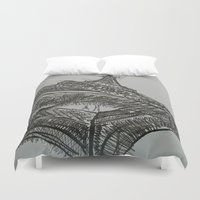 eiffel Duvet Covers featuring Eiffel by Esteban Garza