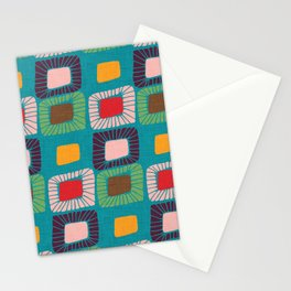 Mid Century Quilt Pink #homedecor Stationery Cards