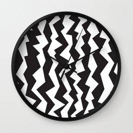 80s Zigzag Wall Clock