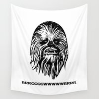 chewbacca Wall Tapestries featuring Chewbacca by C Liza B