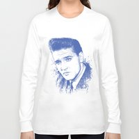 elvis presley Long Sleeve T-shirts featuring Elvis Presley by Chadlonius