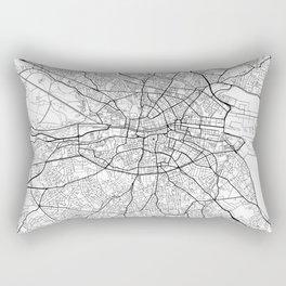 Dublin Map White Rectangular Pillow