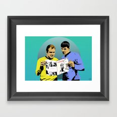 Real Men Framed Art Print