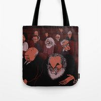 movies Tote Bags featuring At The Movies by Phil McAndrew