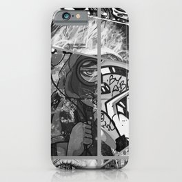Crazy Graffiti - Black and White Abstract Comic Strip Street Pop Art iPhone Case