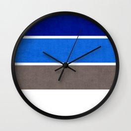 Raining at the Beach Wall Clock