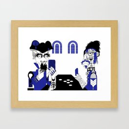 The Queen of Spades - The Card Table Framed Art Print
