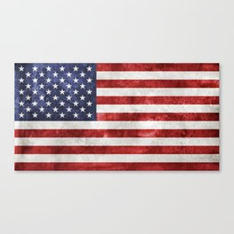Acrylic Grunge Flag - USA Canvas Print