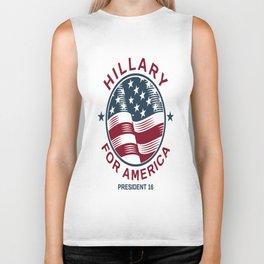 Hillary For America 2016 Biker Tank