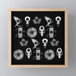 RUNES II Framed Mini Art Print