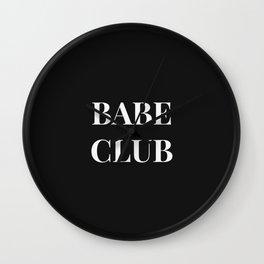 Babeclub black Wall Clock