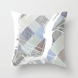 New York Blocks. Throw Pillow