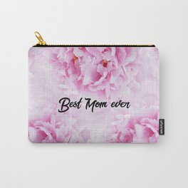 Pink Peonies Dream - Best Mom Ever #1 #floral #decor #art #society6 Carry-All Pouch